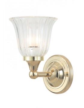 Sieninis vonios šviestuvas Austen1 Polished Brass