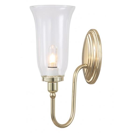 Sieninis vonios šviestuvas Blake2 Polished Brass