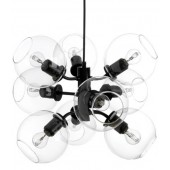 Šviestuvas TAGE PENDANT BLACK/CLEAR 9 LIGHT