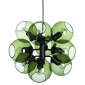 Šviestuvas TAGE PENDANT BLACK/GREEN 9 LIGHT