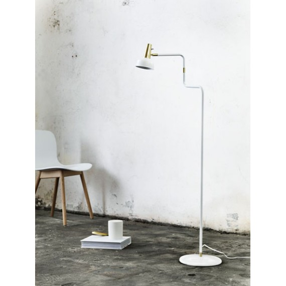 TORŠERAS RAY FLOOR WHITE/BRASS