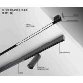 Dekoratyvus šviestuvas 6W xclick s profiliui
