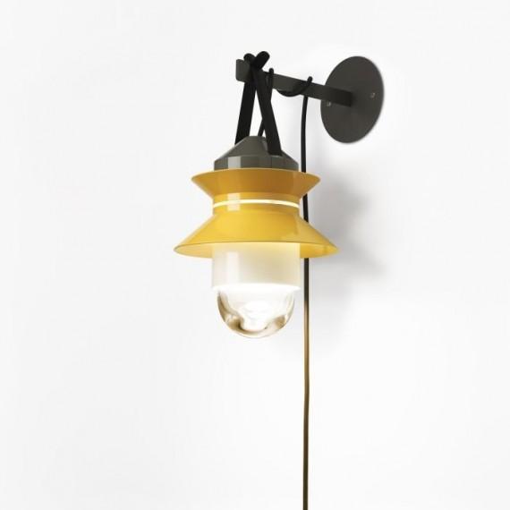 Sieninis lauko šviestuvas su kištuku SANTORINI