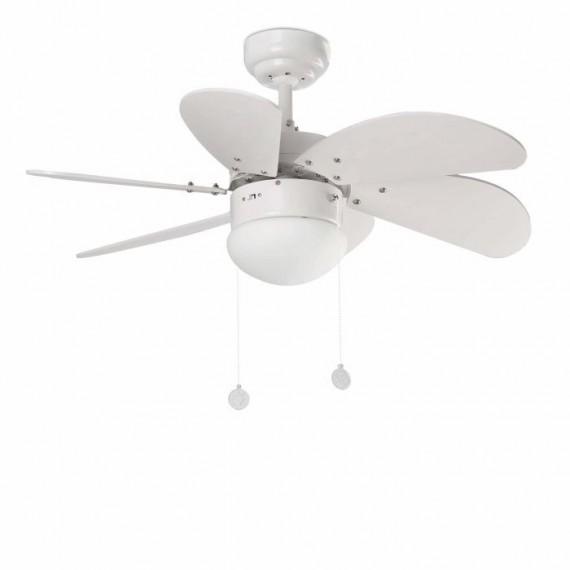 Šviestuvas - ventiliatorius PALAO White