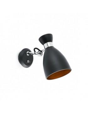 Sieninis šviestuvas Retro Black