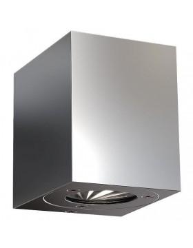 Sieninis šviestuvas CANTO kubi stainless steel