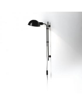 Sieninis šviestuvas funiculi juodas su kištuku