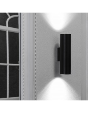 Sieninis šviestuvas STAN 2L juodas