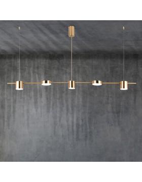 Pakabinamas šviestuvas EMMA/5 poliruotas žalvaris
