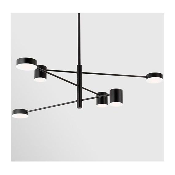Pakabinamas šviestuvas EMMA/6 juodas