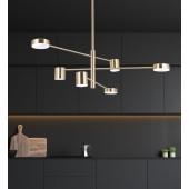 Pakabinamas šviestuvas EMMA/6 poliruotas žalvaris