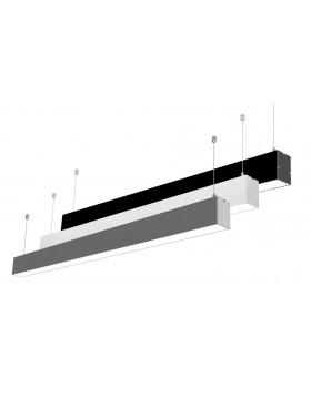 Pakabinamas-lubinis šviestuvas LINE LIGHT baltas