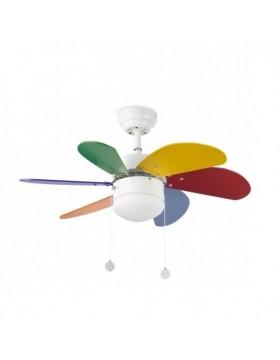 Šviestuvas - ventiliatorius PALAO Multicolor