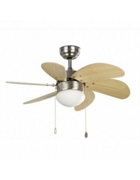 Šviestuvas - ventiliatorius PALAO Nickel